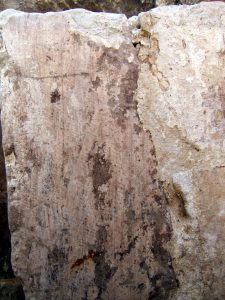 Beddington Park Excavation 2013 cellar door scratched cross
