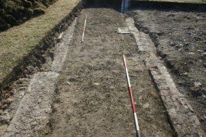 Beddington Park Excavation 2013 trench south end