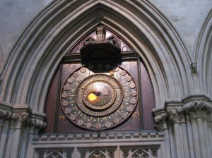2014 May Weekend Wells Cathedral North Transcept Astronomical clock