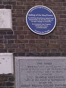 Plaques on Tower, St. Marys Rotherhithe