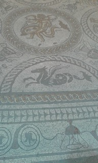 Fishbourne Palace Floor Mosaic Detail